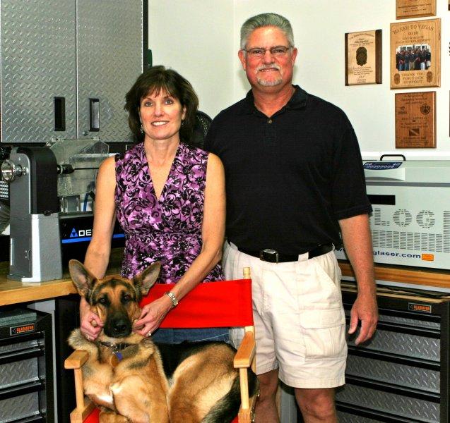 Steve Ditmars & Barbi Clark, owners of LaswerWerx